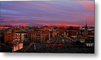 Sunset Over Segovia ... Metal Print by Juergen Weiss