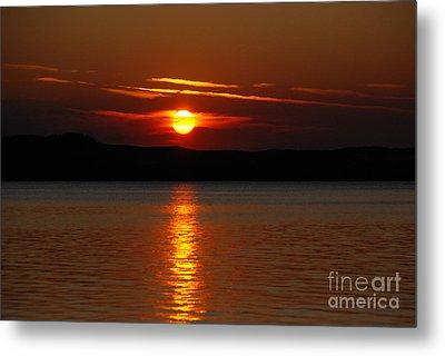 Sunset Over Silver Lake Sand Dunes Metal Print by Grace Grogan