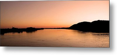 Sunset Over The Danube ... Metal Print by Juergen Weiss