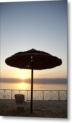 Sunset Over The Dead Sea Metal Print by Taylor S. Kennedy