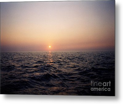 Sunset Over The Ocean Metal Print by Thomas Luca