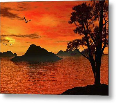 Sunset Serenade Metal Print by Lourry Legarde