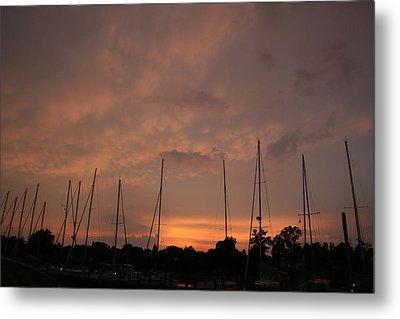 Sunset Sky Annapolis Metal Print by Valia Bradshaw