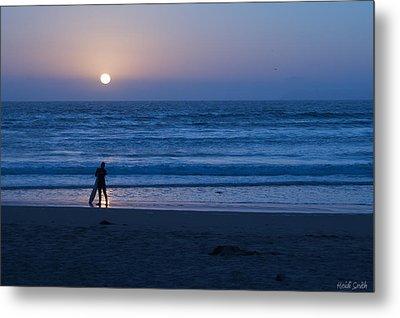 Sunset Surfer Metal Print by Heidi Smith
