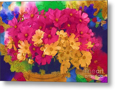 Sunshine In A Basket Metal Print by Marion Headrick