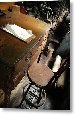 Supervisors Desk Metal Print by Jackie Stier