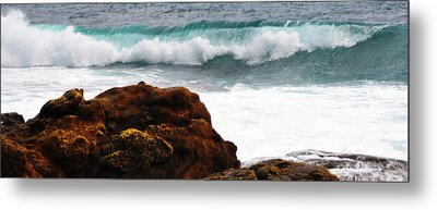 Surf Breaking Near Coast Metal Print by Phill Petrovic