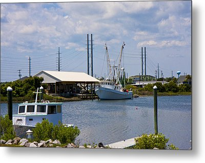 Surf City View Metal Print by Betsy C Knapp