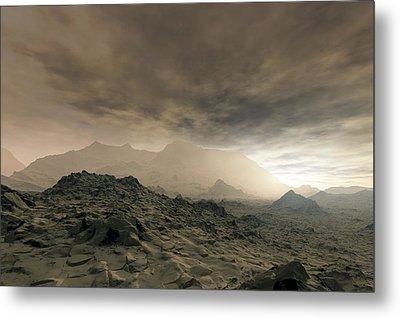 Surface Of Venus, Artwork Metal Print by Detlev Van Ravenswaay