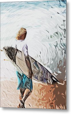 Surfer Metal Print by Tilly Williams