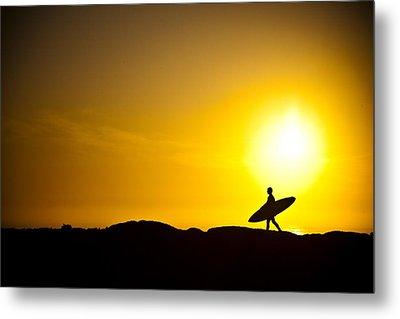 Surfer's Dawn Metal Print by Zarija Pavikevik
