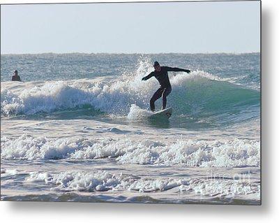 Surfing The Atlantic Metal Print by Brian Roscorla