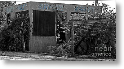 Surfside Market Metal Print by Cheryl Young