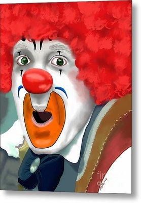 Surprised Clown Metal Print by Methune Hively