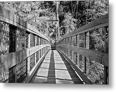 Suspension Bridge Metal Print by Susan Leggett
