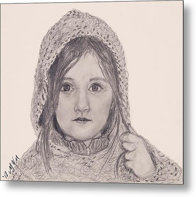 Sweater Metal Print by Michelle Wolff