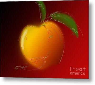 Sweet Peach 1 Metal Print by Andee Design