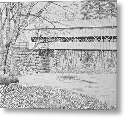 Swift River Bridge Metal Print by Tim Murray