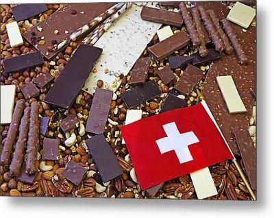 Swiss Chocolate Metal Print by Joana Kruse