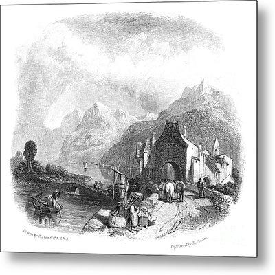 Switzerland: Villeneuve Metal Print by Granger