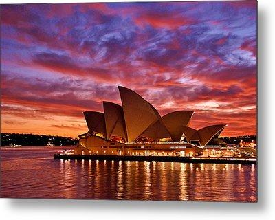 Sydney Operahouse Metal Print by Preston Coe