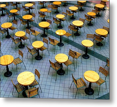 Tables And Chairs II Metal Print by Steven Ainsworth