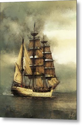 Tall Ship Metal Print by Marcin and Dawid Witukiewicz