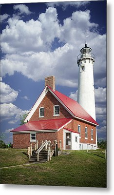 Tawas Point Lighthouse In Michigan Number 0007 Metal Print by Randall Nyhof
