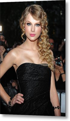 Taylor Swift At Arrivals For Time 100 Metal Print by Everett