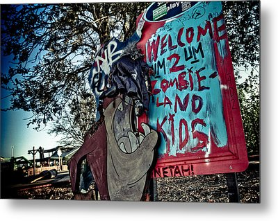 Taz Welcomes You To Zombie Land Metal Print by Pixel Perfect by Michael Moore