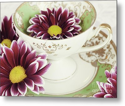 Tea Petals Metal Print by Kim Fearheiley