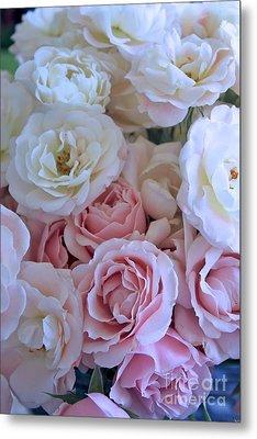 Tea Time Roses Metal Print by Carol Groenen