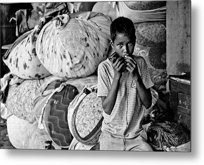Technology In Sweatshop Metal Print by Kantilal Patel
