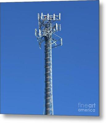 Telecommunications Tower Metal Print by Eddy Joaquim