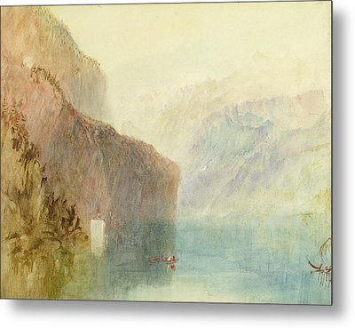 Tell's Chapel - Lake Lucerne Metal Print by Joseph Mallord William Turner