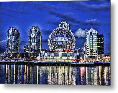 Telus Science Center Vancouver Bc Metal Print by Lawrence Christopher