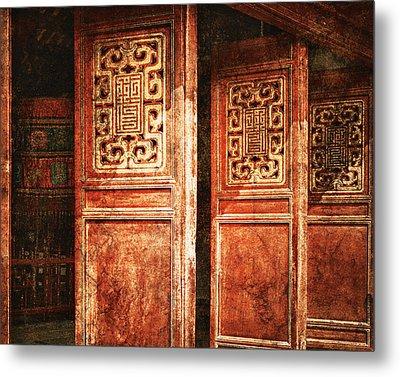 Temple Door Metal Print by Skip Nall