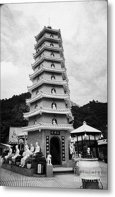 Ten Thousand Buddhas Monastery Nine Level Pagoda Sha Tin New Territories Hong Kong Metal Print by Joe Fox