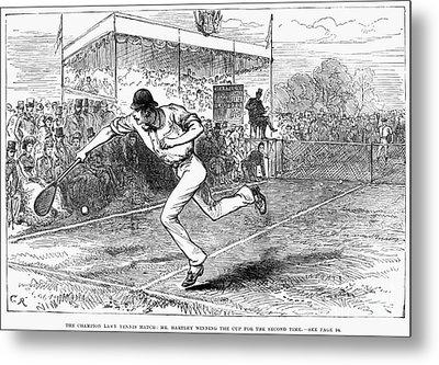 Tennis: Wimbledon, 1880 Metal Print by Granger