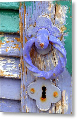 Terrace Door Metal Print by Lainie Wrightson