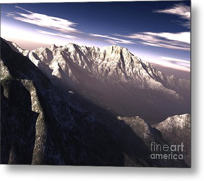 Terragen Render Of Kitt Peak, Arizona Metal Print by Rhys Taylor