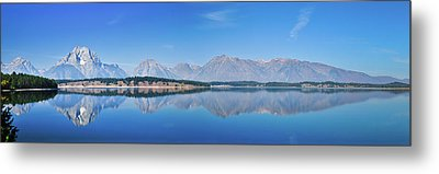 Teton Reflections Metal Print by Greg Norrell