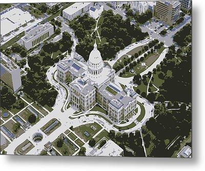 Texas Capitol Color 6 Metal Print by Scott Kelley