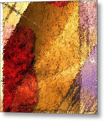 Textile 2 Metal Print by Robert Matson