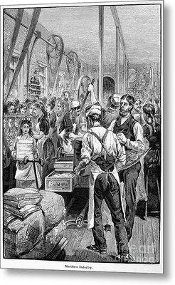 Textile Mill, 1881 Metal Print by Granger