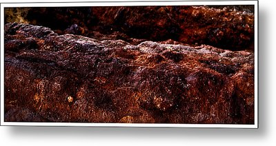 Texture Of The Sea Metal Print by Ronald Talley