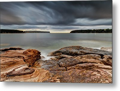 Textures Of Land And Sky Metal Print by Mark Lucey
