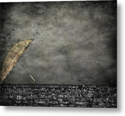 Th E Red Umbrella Metal Print by JC Photography and Art