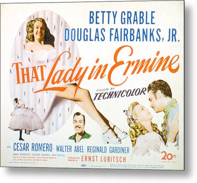 That Lady In Ermine, Betty Grable Metal Print by Everett