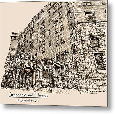 Thayer Hotel For Steph And Thomas Metal Print by Building  Art